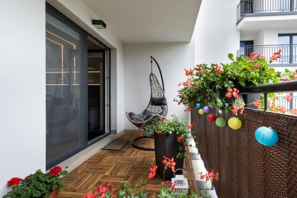 Home terrace stock photo