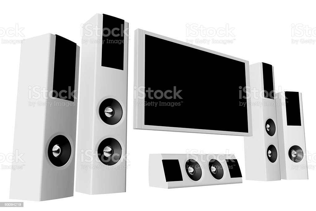 Home theater 02 royalty-free stock photo