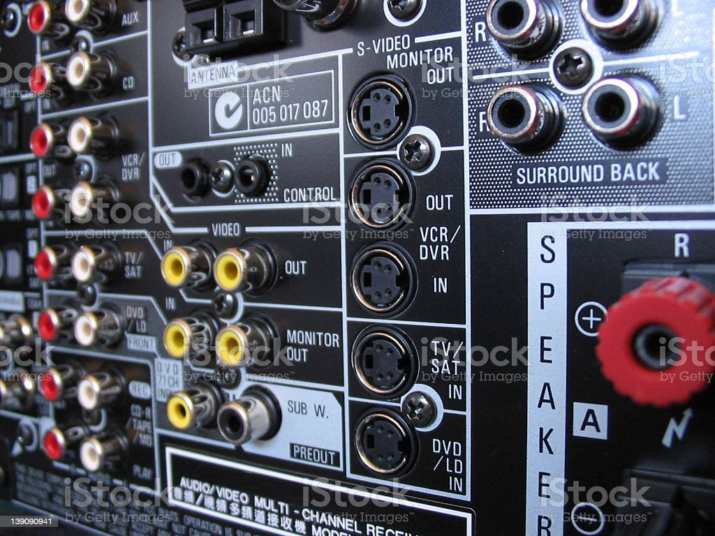 Home Theater Connectors royalty-free stock photo