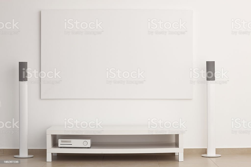 Home theater. stock photo