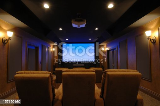 High-end home theater room