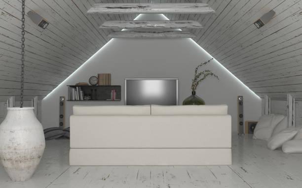 heimkino-studio - lichtschlauch stock-fotos und bilder