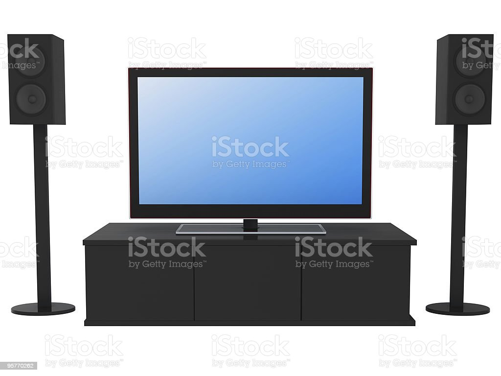 Home Theater System royalty-free stock photo