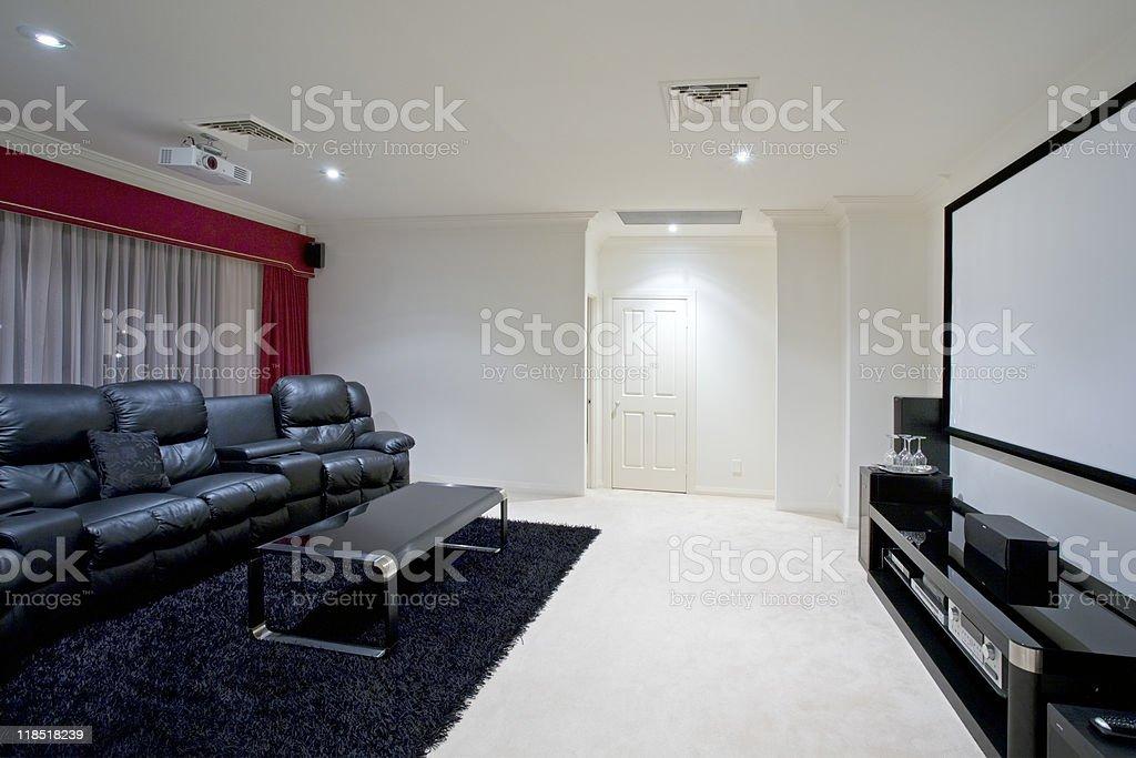 Home Theatre Room stock photo