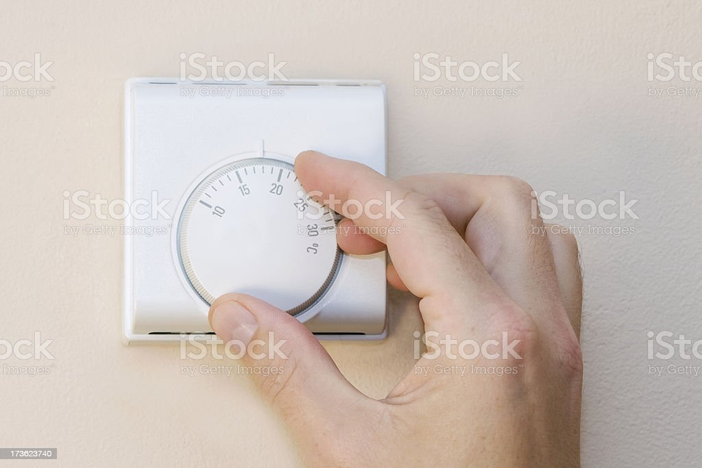 Home Thermostat stock photo