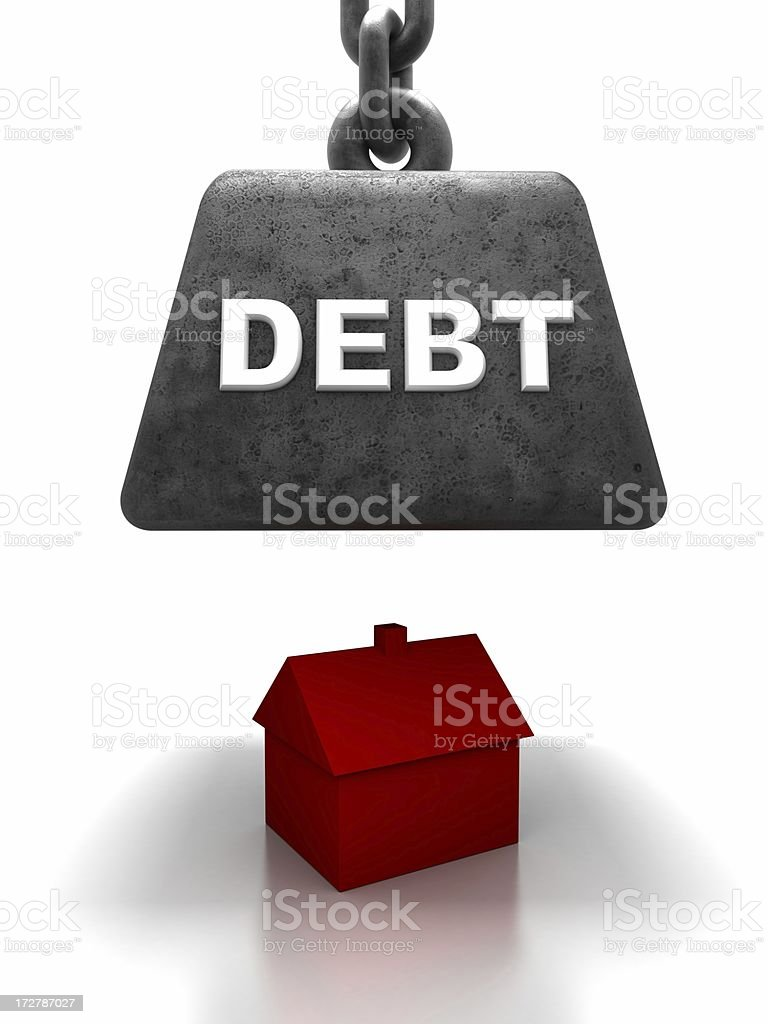 Home threatened by debt royalty-free stock photo