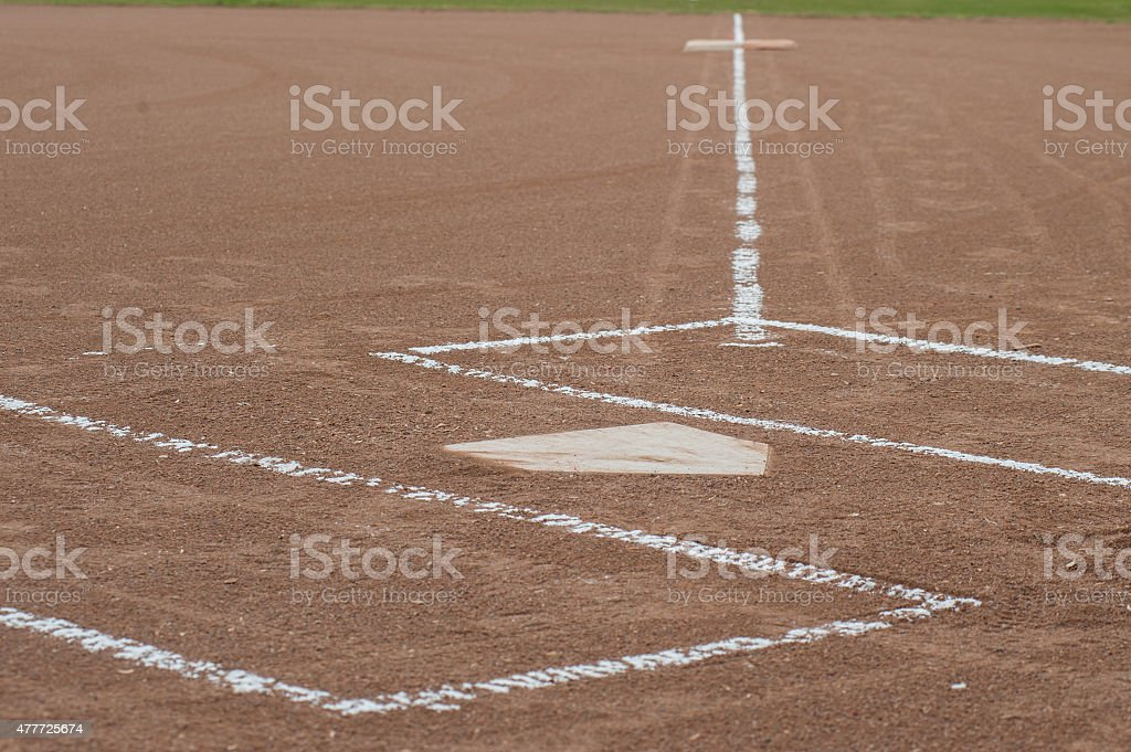 Home to first base stock photo