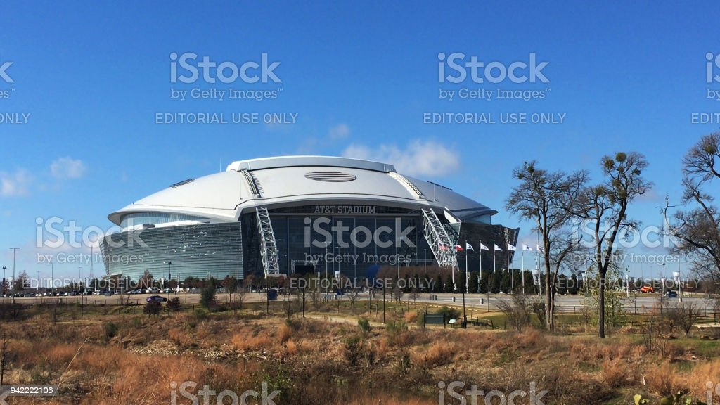 Home to the Dallas Cowboys, AT&T Stadium in Arlington stock photo