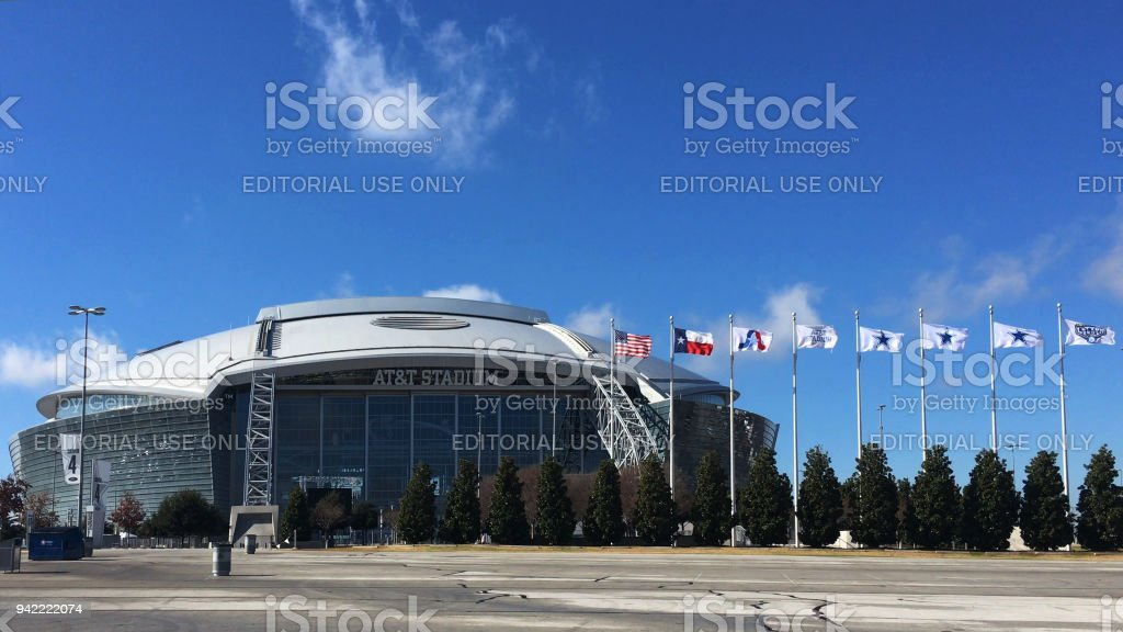 Home to the Dallas Cowboys, AT&T Stadium in Arlington, Texas stock photo