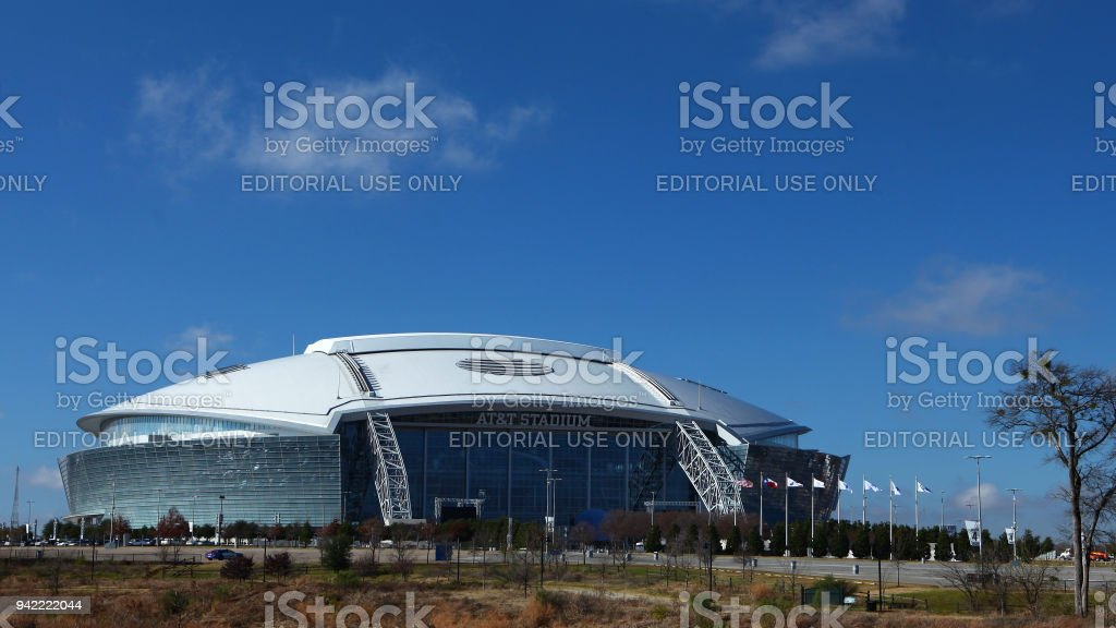 Home to the Dallas Cowboys of the NFL, AT&T Stadium stock photo