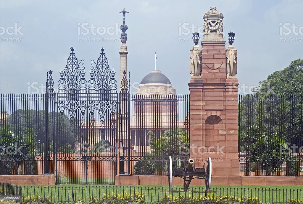 Home to the Indian President royalty-free stock photo