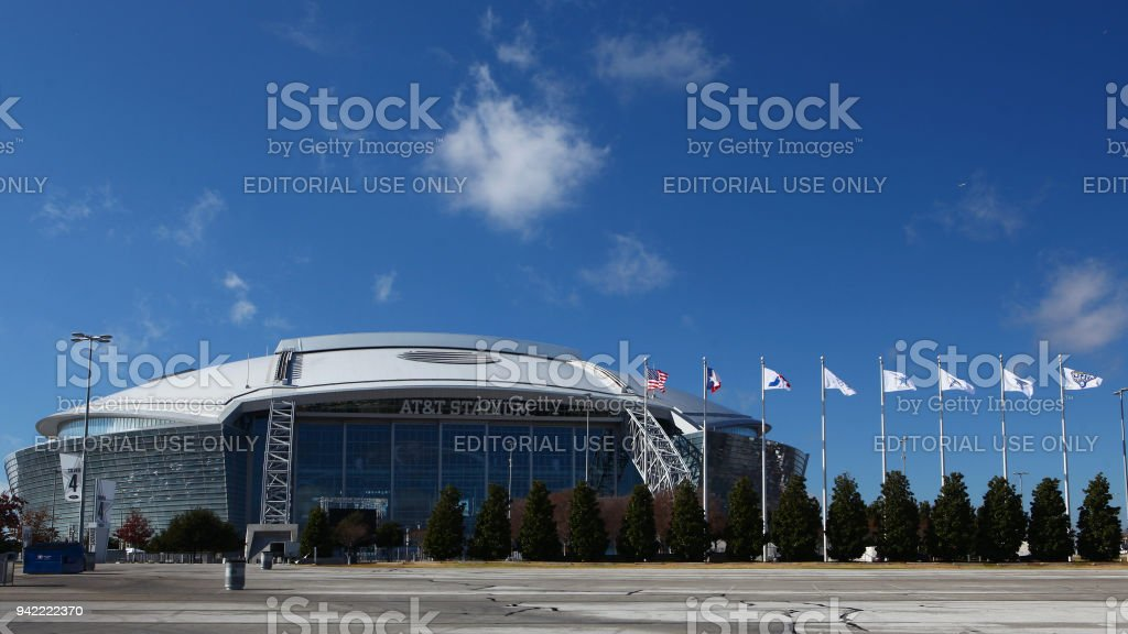 Home to the NFL's Dallas Cowboys, AT&T Stadium stock photo