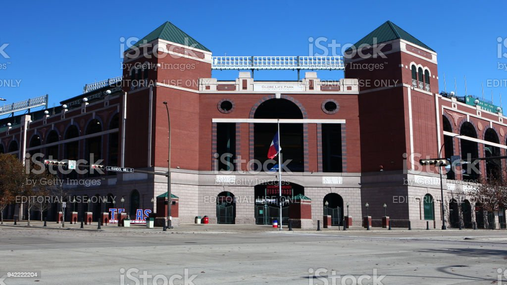 Home to the Texas Rangers, Globe Life Park in Arlington stock photo