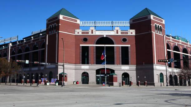 Home to the Texas Rangers, Globe Life Park in Arlington stock photo