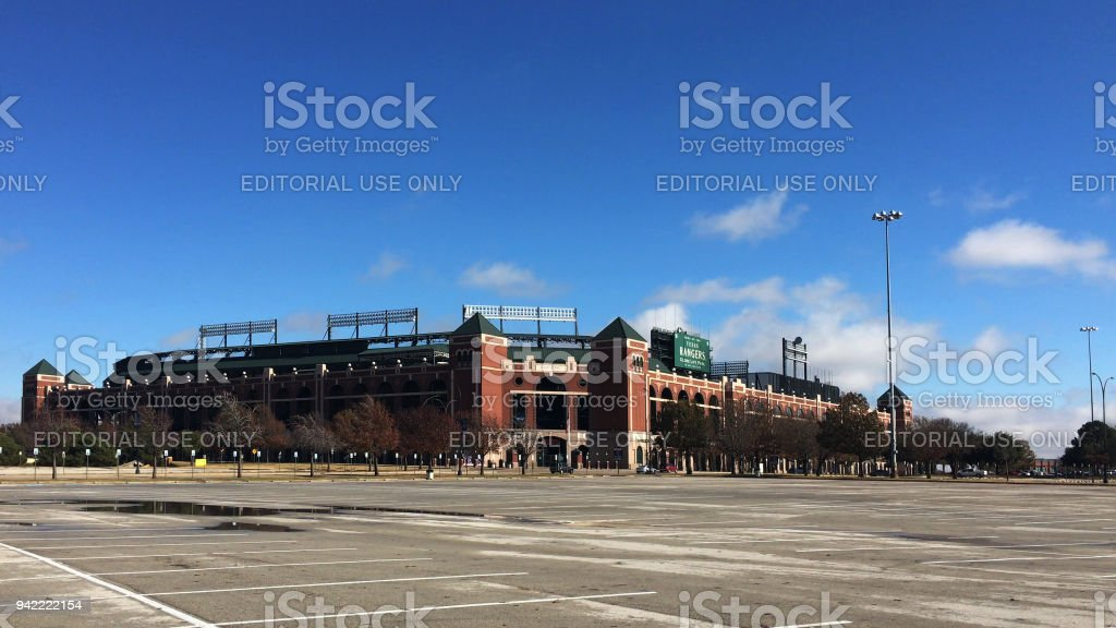 Home to the Texas Rangers, Globe Life Park stock photo