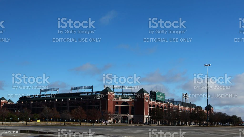 Home to the Texas Rangers of the MLB , Globe Life Park stock photo