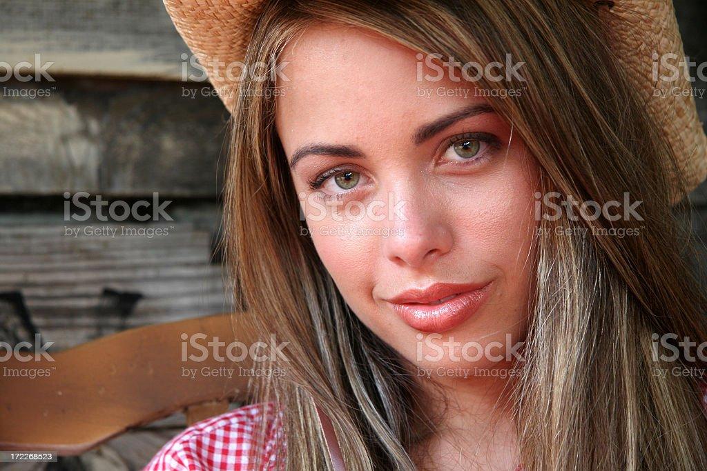 Home Town Girl stock photo