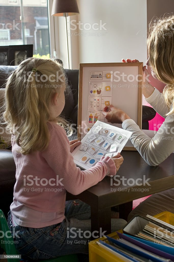 Home tuition therapy stock photo