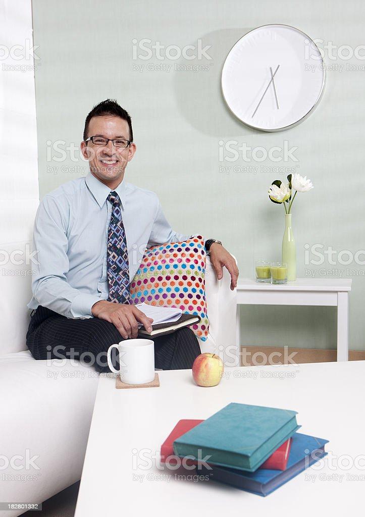 home tutor: teacher ready for work stock photo
