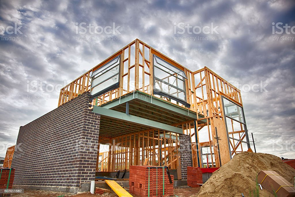Home under construction royalty-free stock photo