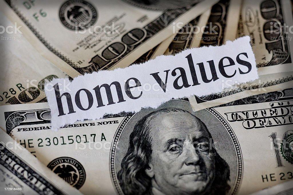 home values royalty-free stock photo