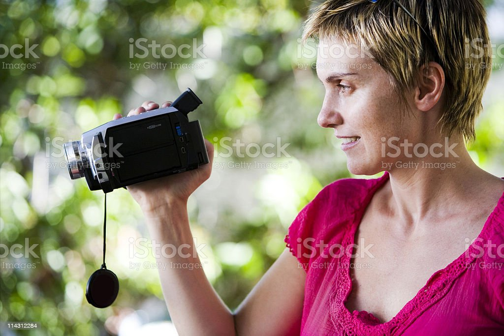 Home video shooter royalty-free stock photo