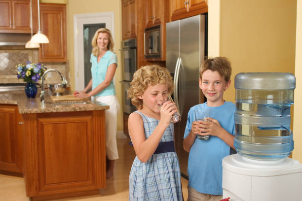 home water cooler - gchutka stock pictures, royalty-free photos & images