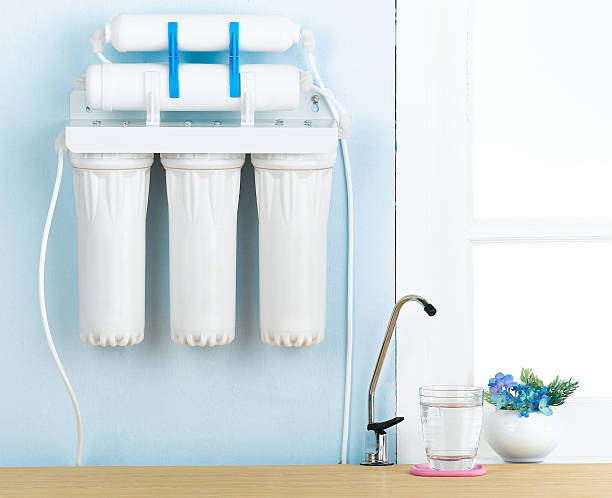 Home water filters type stock photo