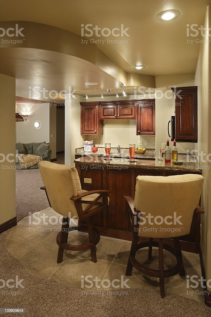Home Wet Bar stock photo