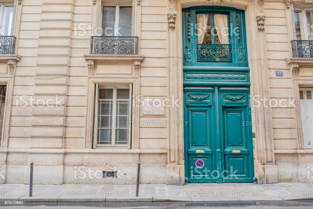 Home where Edith Wharton lived on Rue de Varenne in Paris stock photo