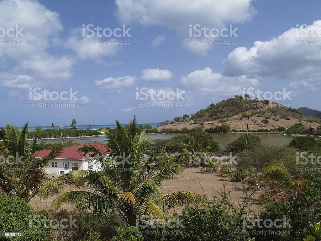 Home With a View in Antigua Barbuda royalty-free stock photo