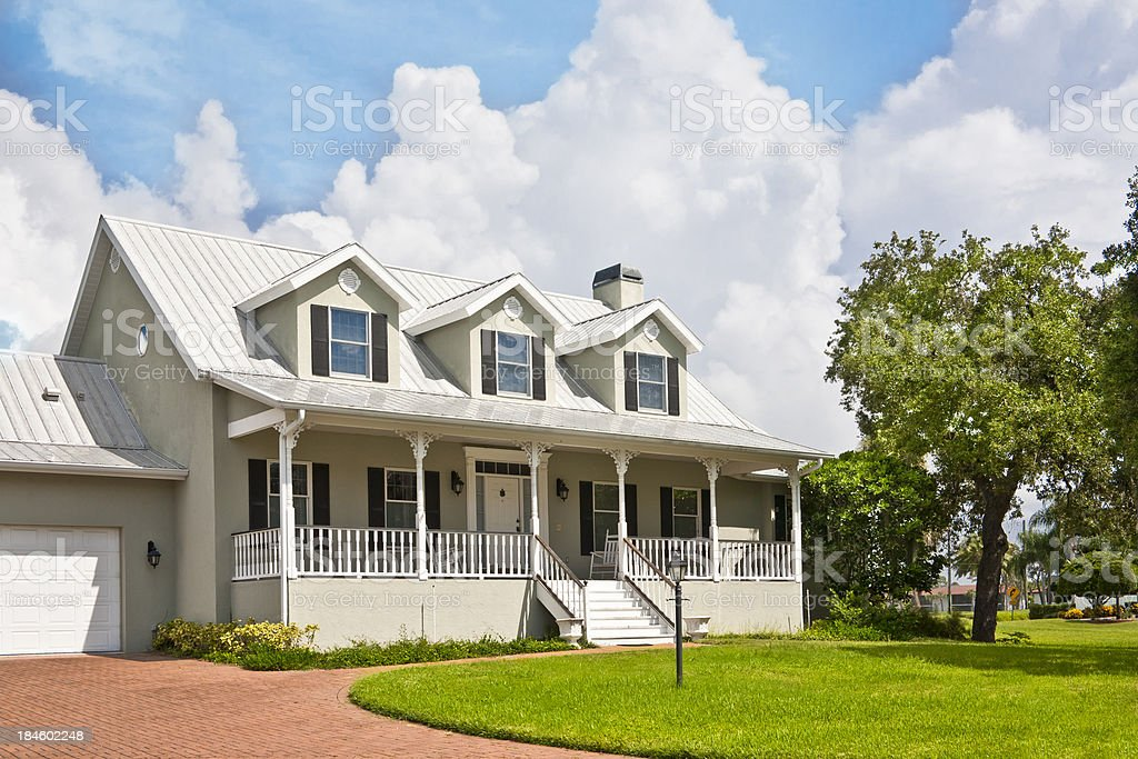 Home with Dormer Windows stock photo