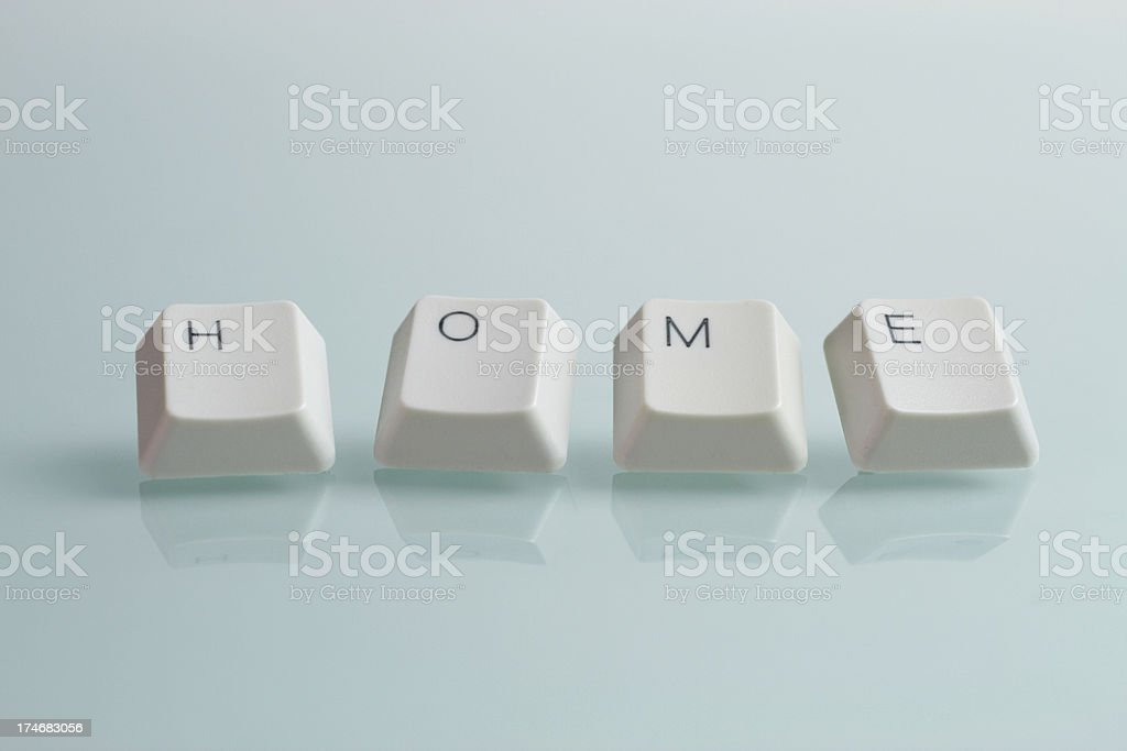Home Word with Keys stock photo