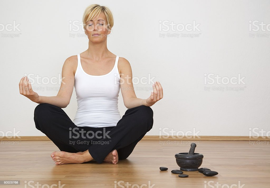 home yoga royalty-free stock photo