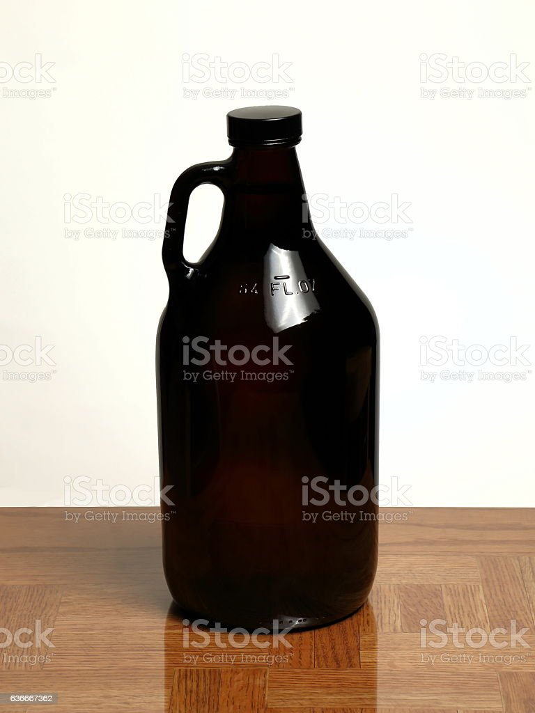 Homebrew Beer in Growler stock photo