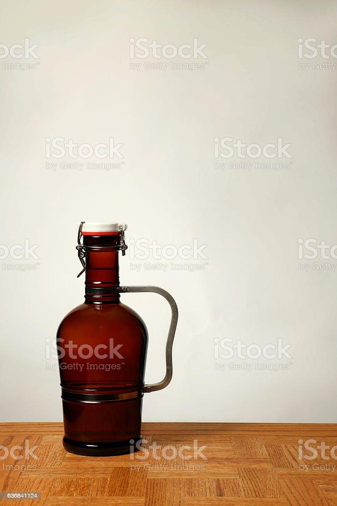 Homebrew Beer in Swing Top Growler stock photo