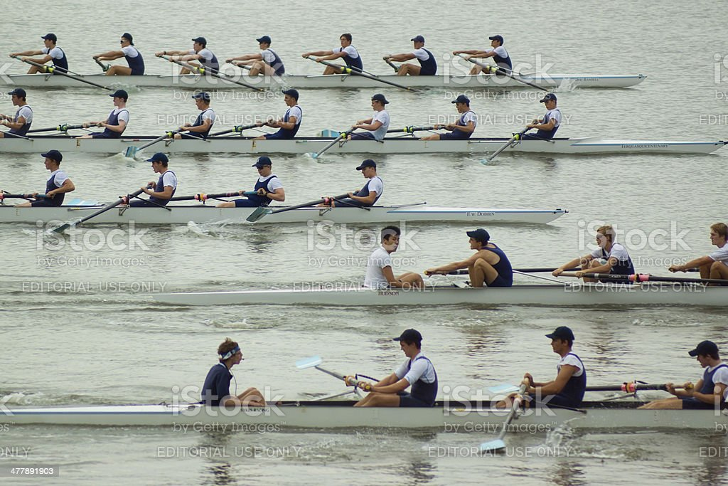 Homebush Bay Rowers stock photo