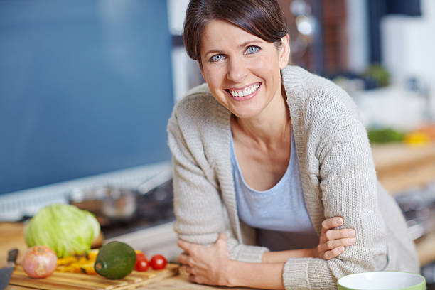 Home-cooked meals are the best stock photo