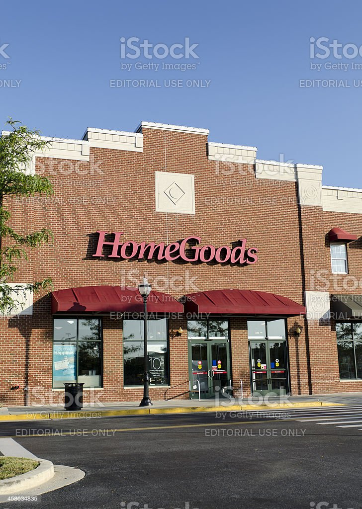 HomeGoods Store Front stock photo
