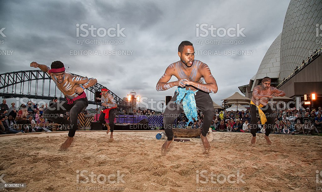 Homeground festival in Sydney - celebration of Aboriginal culture stock photo