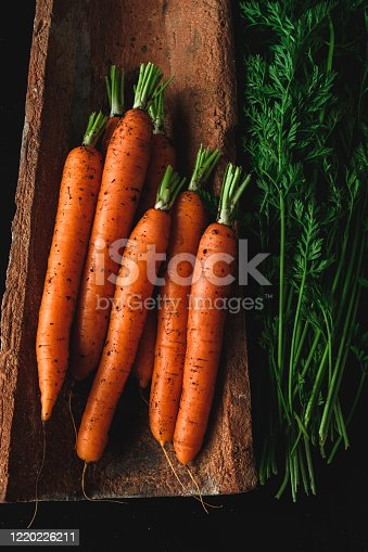 Carrot isolated on white.