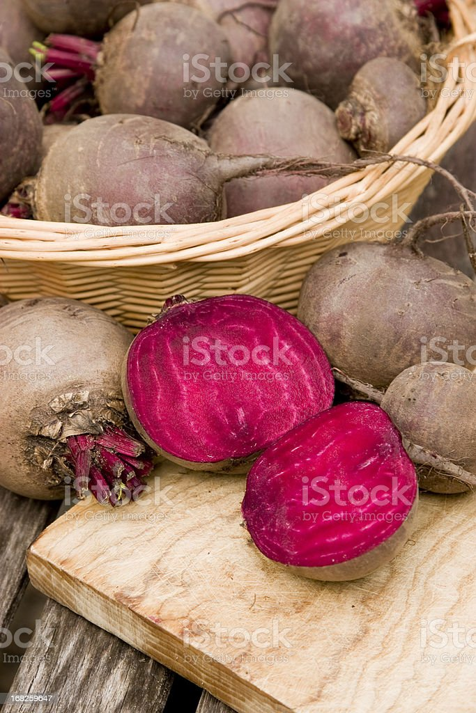 Homegrown common beet royalty-free stock photo