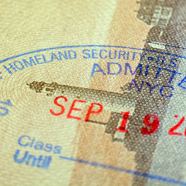 U.S. Homeland Security - Passport Stamp  department of homeland security stock pictures, royalty-free photos & images