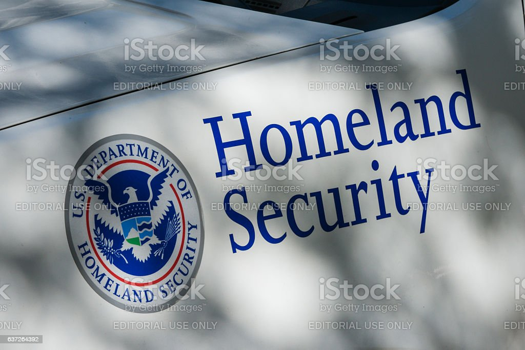 Homeland Security New York, USA - October 5, 2016: A Homeland Security vehicle late in the day in Lower Manhattan. Counter-terrorism Stock Photo