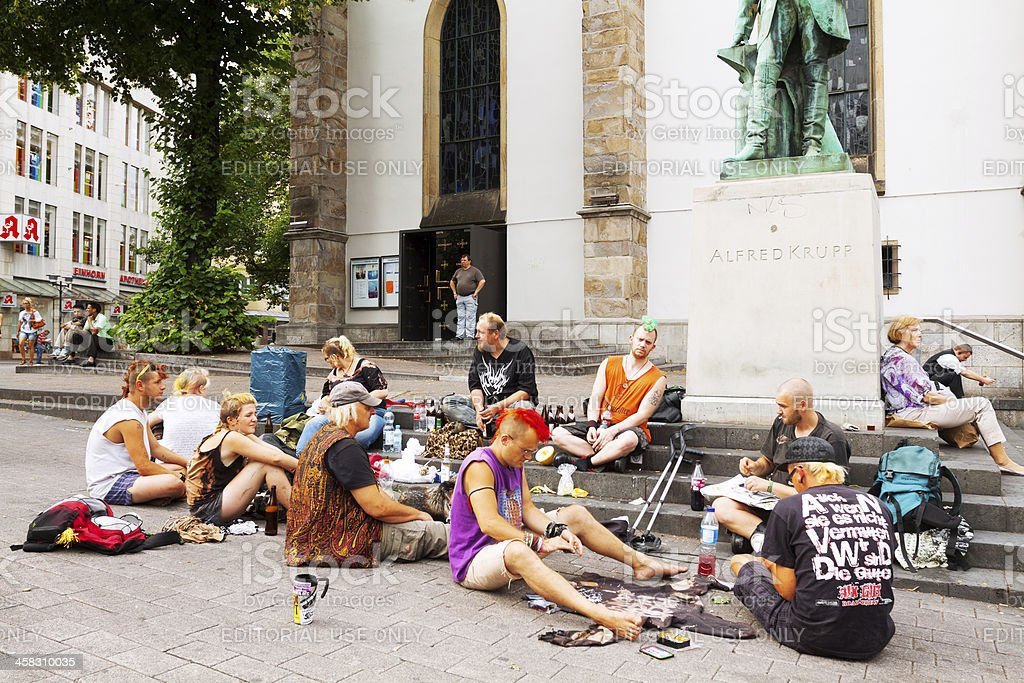 Obdachlose und punks – Foto