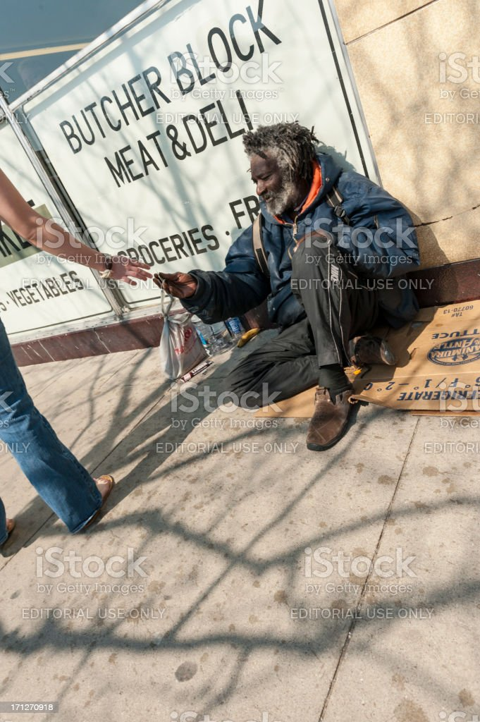 Homeless Begger stock photo