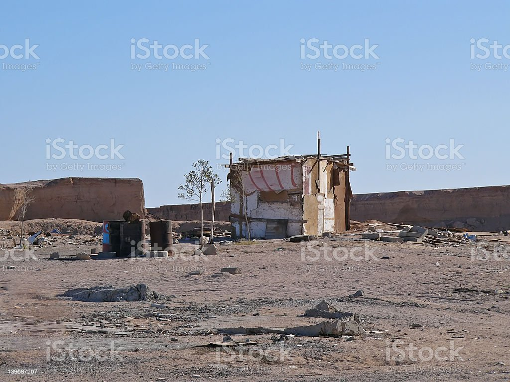 Homeless house stock photo
