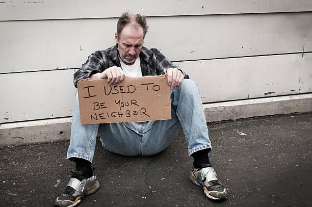 obdachlos: ich war dein nachbar - trennungssprüche stock-fotos und bilder