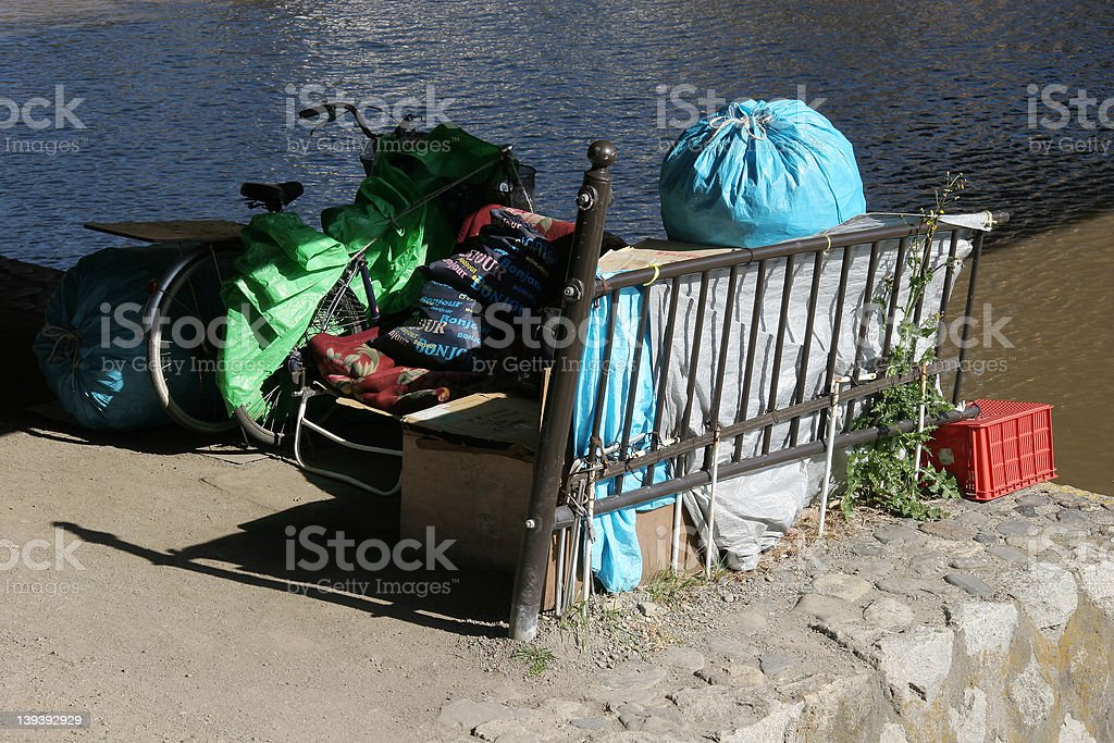 Homeless in Japan royalty-free stock photo
