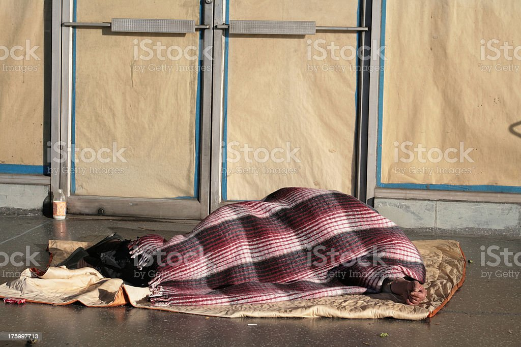 Homeless in Los Angeles royalty-free stock photo
